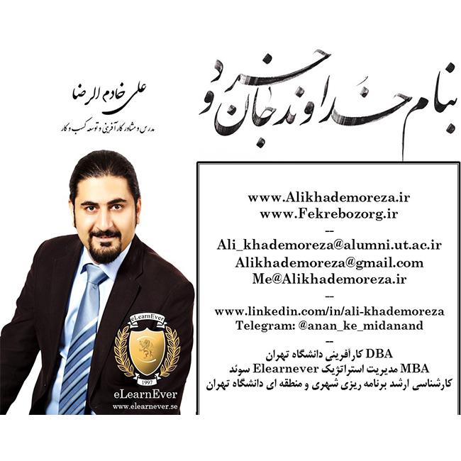کارآفرینی اینترنتی راه اندازی کسب و کار اینترنتی علی خادمل الرضا